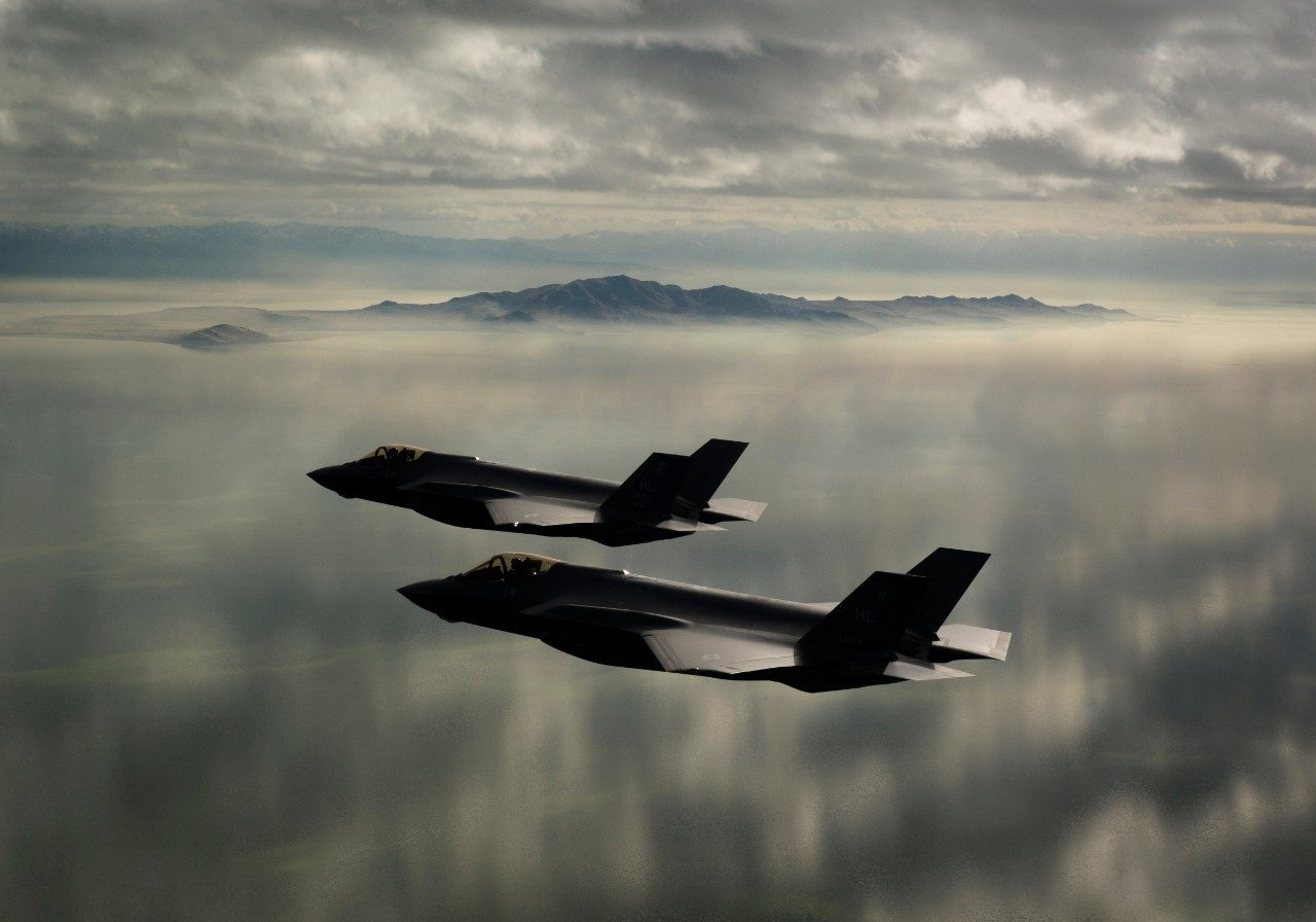 F-35s in formation