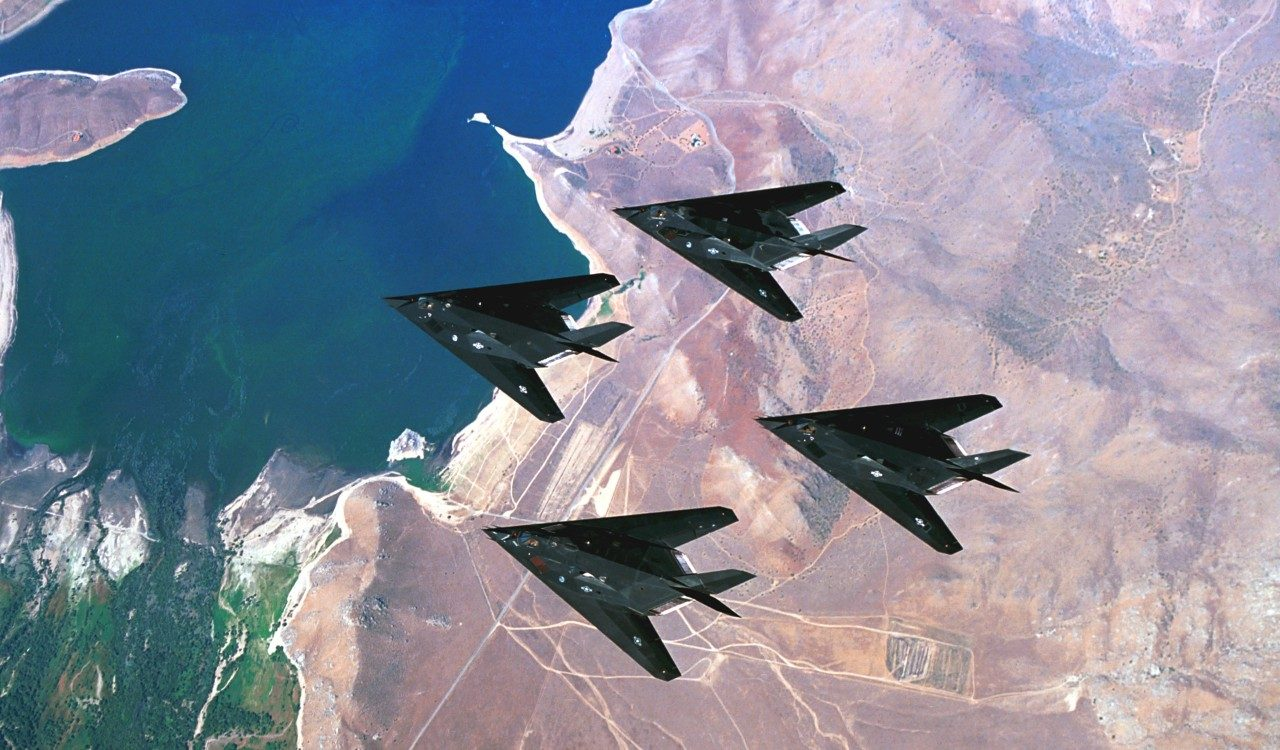 F-117 4-Ship Formation