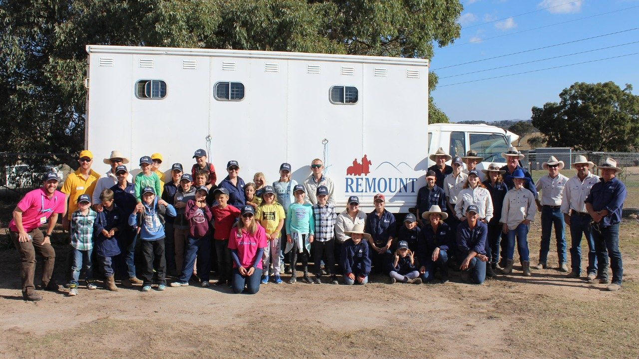 The Remount team with a group of Kookaburra Kids
