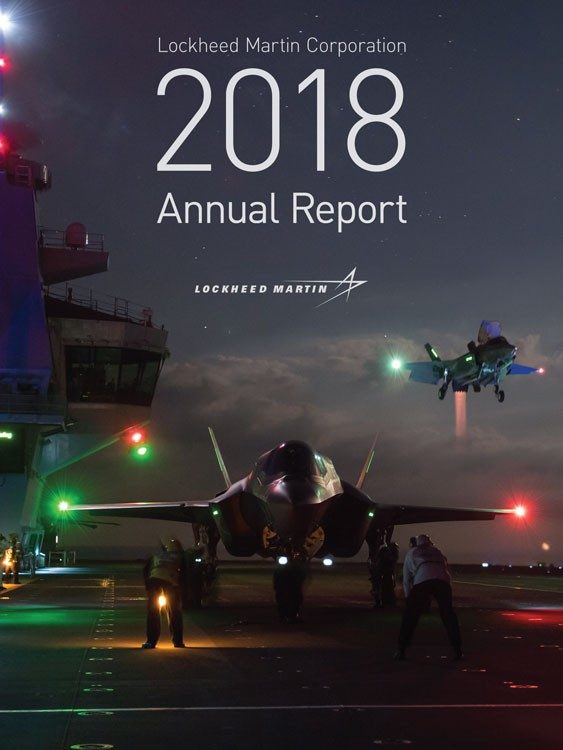 2018 Lockheed Martin Annual Report Cover