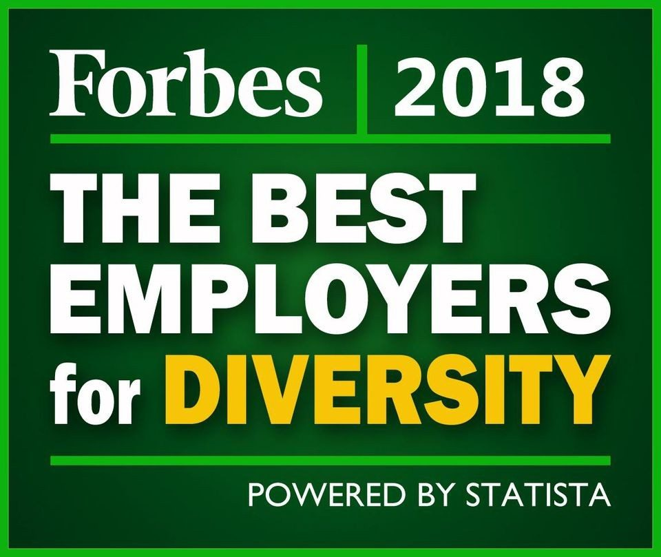 Forbes The Best Employers for Diversity 2018 Logo