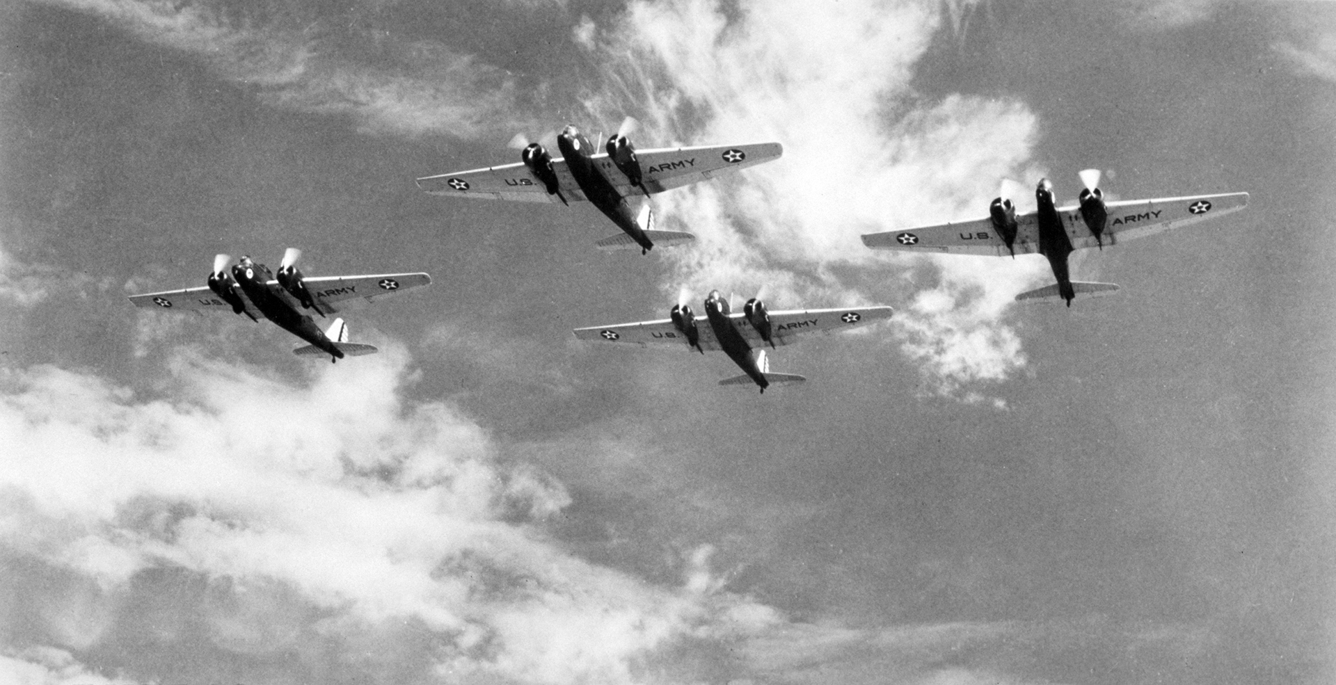 B-10's Flying in Formation