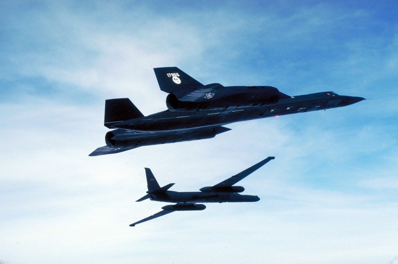 SR-71 and U-2 in flight