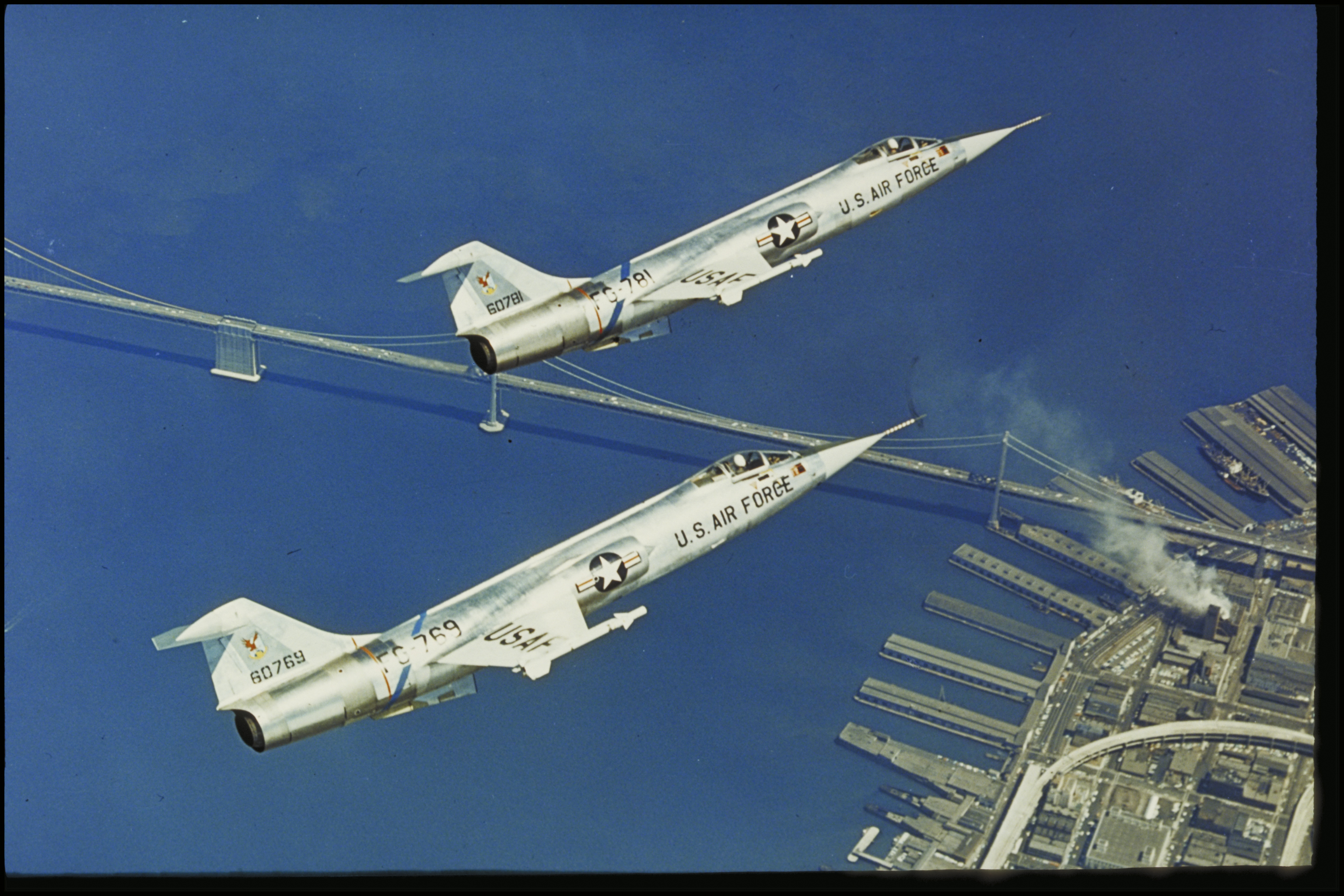 ... the flight of an aircraft already in production—the sleek, yet durable,  Lockheed F-104 Starfighter—they instantly knew they had found the ideal  plane.