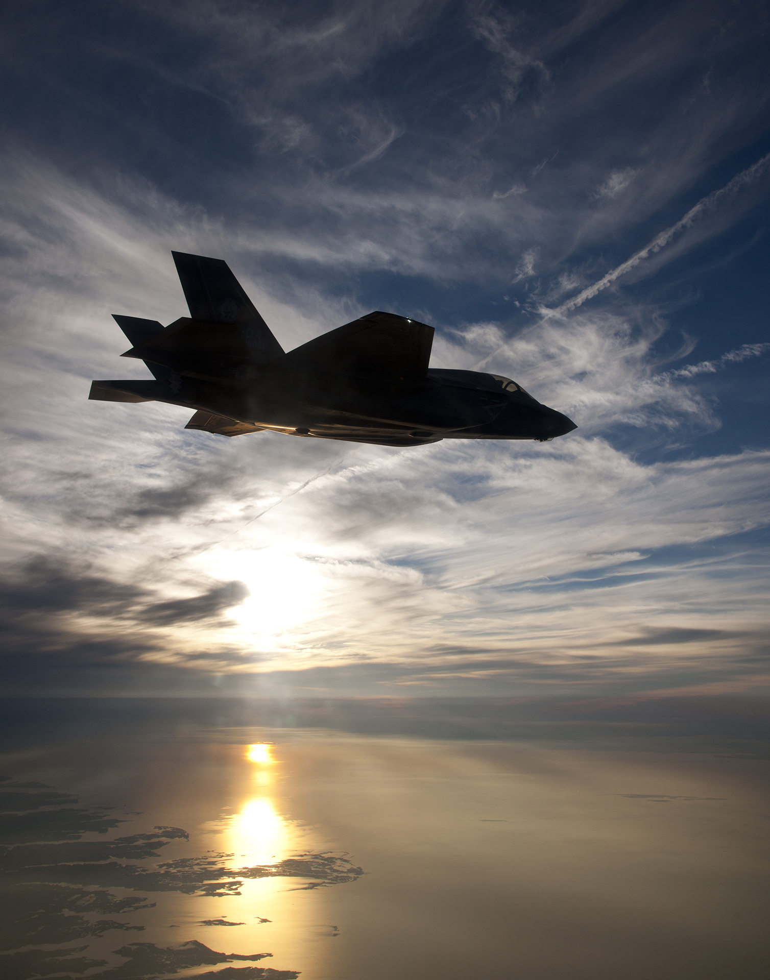 F-35B at sunset