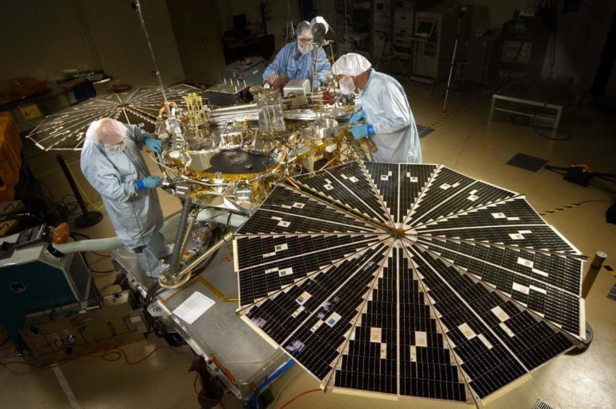Mars Phoenix Lander, built in the same clean room as Viking, 30 years later