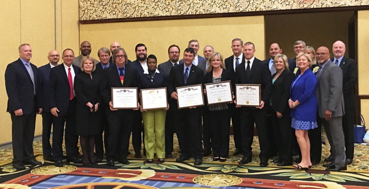 Representatives from all five winning Lockheed Martin sites accepted their DSS Cogswell Awards during a ceremony in Dallas, Texas on June 6, 2018.