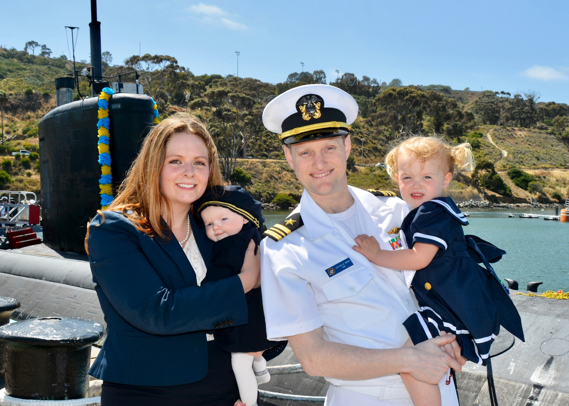 Courtney and LCDR Smythe