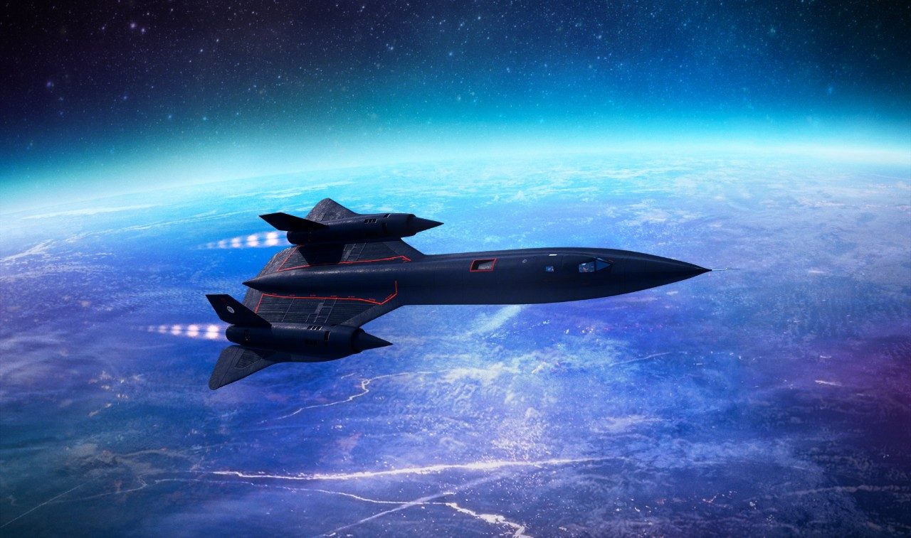 SR-71 Flying Over Clouds