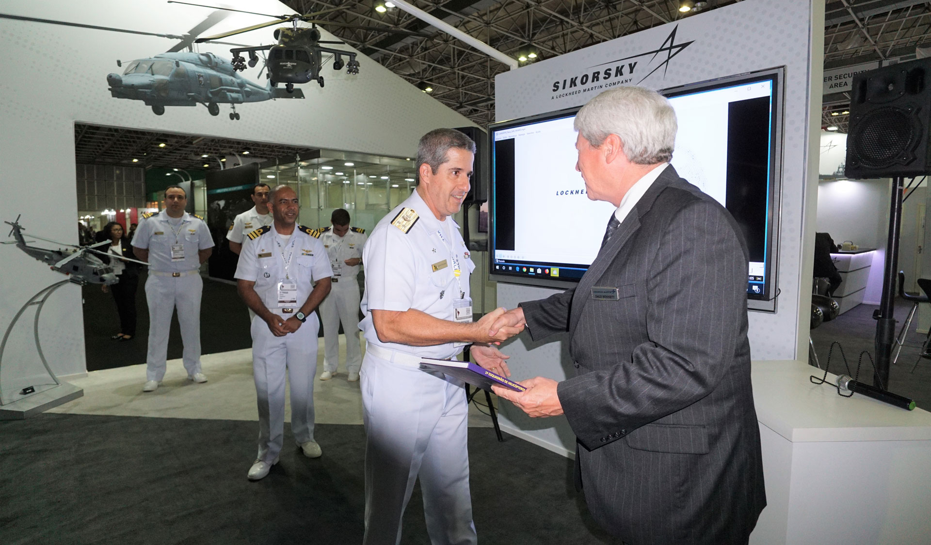 "Three squadrons from the Brazilian Air Force were recognized by Sikorsky with commemorative plaques for two different rescues that occurred in December 2018. The 2º/10º Aviation Group and 5º/8º Aviation Group conducted a three-day search and rescue for a crashed civilian aircraft – flying their Black Hawks over dense forests near Mato Grosso, Brazil. The squadrons found the plane's two occupants alive and ushered them to safety. Two weeks later, the 7º/8º Aviation Group rescued three people and a dog from another civilian airplane crash near Tabatinga, Brazil. Ten. Brig. Egito, commander of COMPREP, who received the Brazil Air Force plaques, remarked: ""Our crewmembers are ready for rescue missions 24/7. The training is important, but so is the aircraft. So the combination of men and machine is what make these rescues successful. I appreciate the recognition, and I guarantee this aircraft is part of our history and mission."""