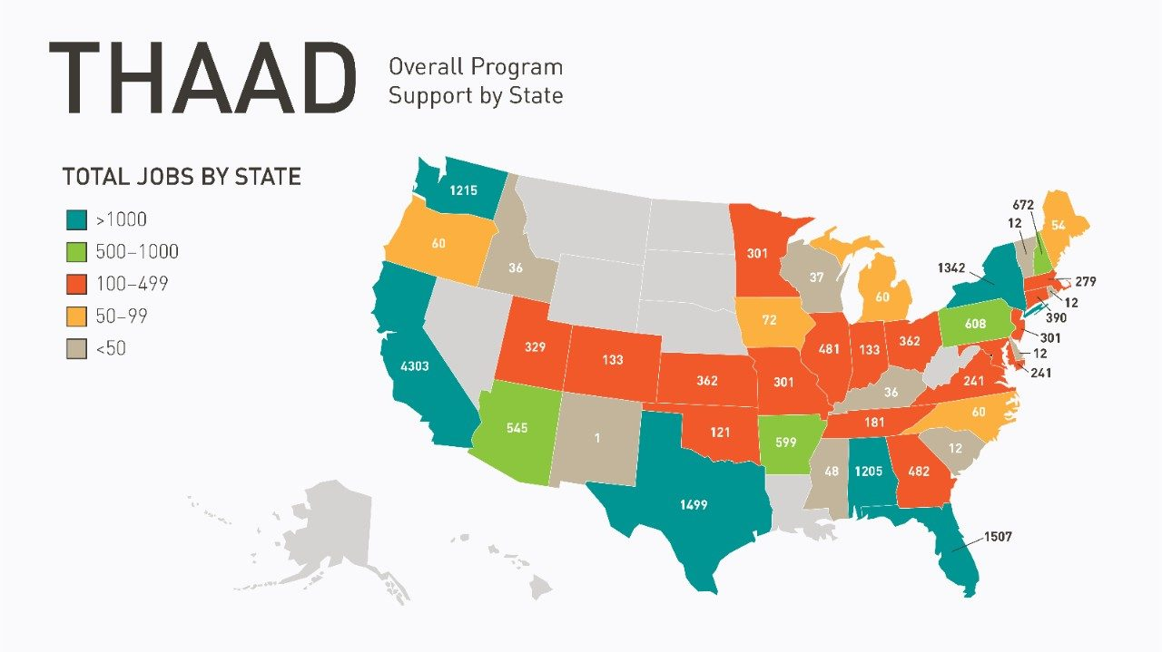 THAAD Total Jobs by the State