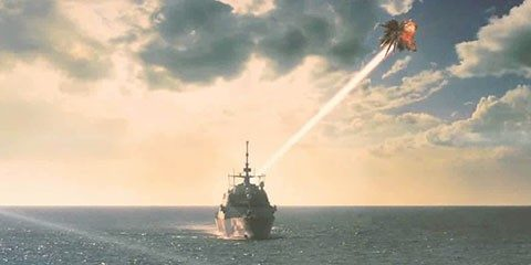 laser weapon system for navy ship