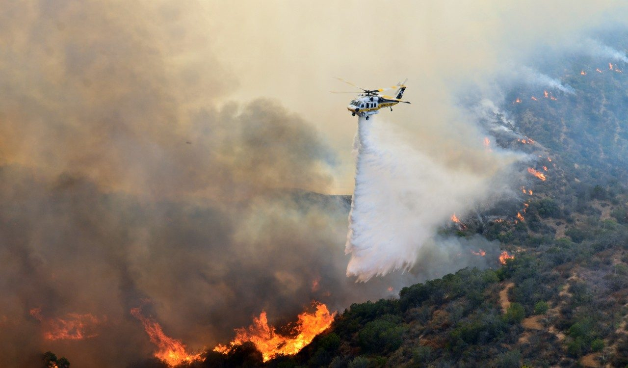 For Reagan Library, Simi Valley it was LA Co Fire and their FIREHAWK to the Rescue