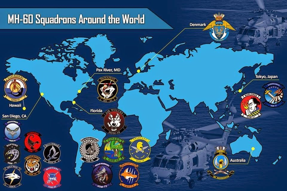 MH-60 Squadrons Around the World