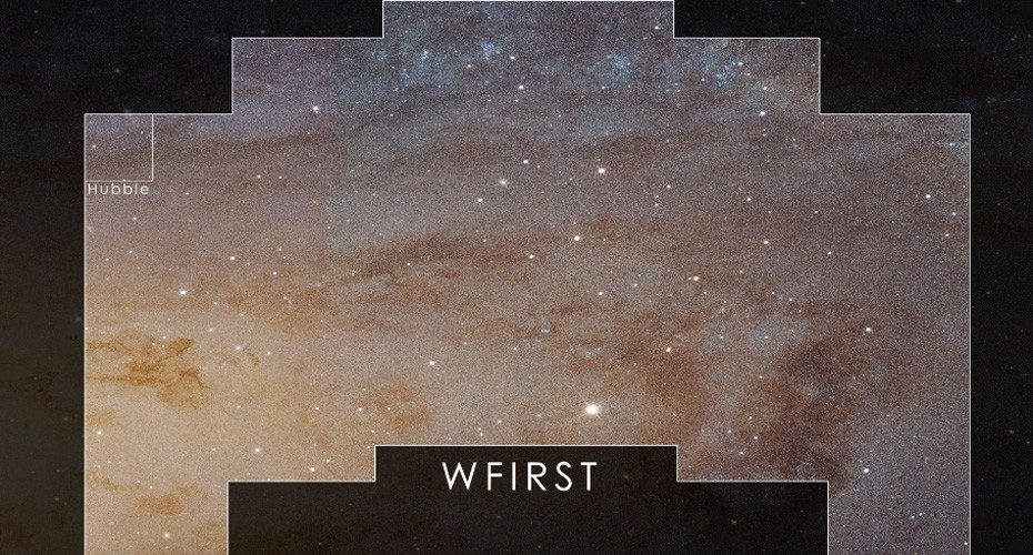 WFIRST will have a vast perspective of the sky in high resolution, shown here versus what the Hubble Space Telescope sees. Photo: NASA