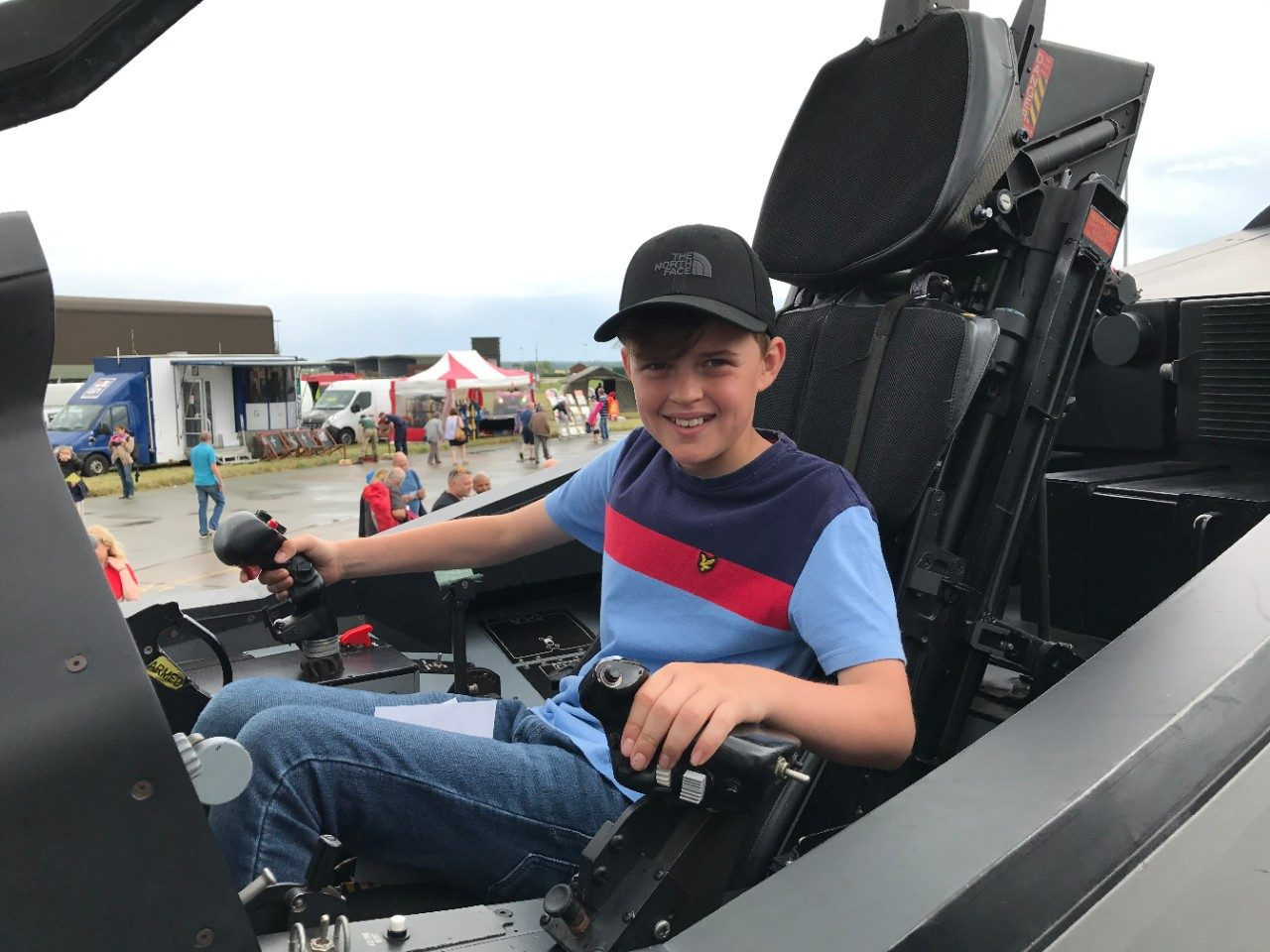 Child in F-35 Cockpit