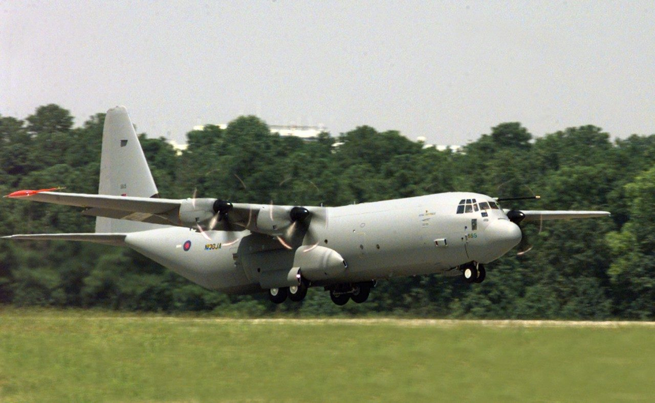 The RAF's C-130J aircraft